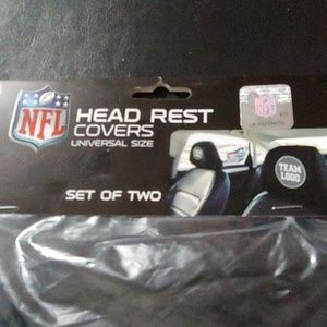 Patriots head rest covers